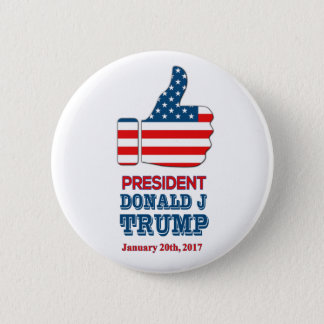 """Round Button 2.25"""" Big Thumbs Up President Trump"""