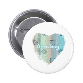 Round button badge - It's a Boy!