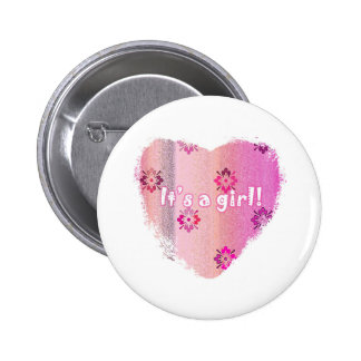 Round Button Badge - It's a Girl!