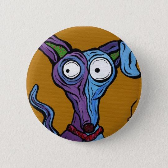 Round Button Pop Art Dog
