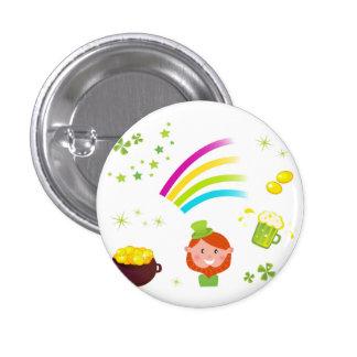 Round button with Leprechaun