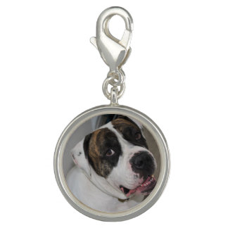 Round Charm, Argent Plated has to personalize