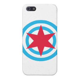 Round Chicago Flag Case For iPhone 5/5S
