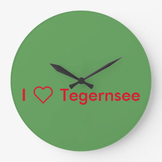 "Round clock ""I love Tegernsee """