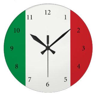 Round clock Italy flag