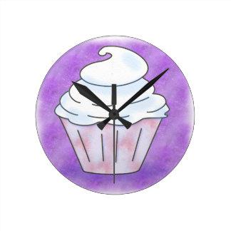 Round clock medium cup cake
