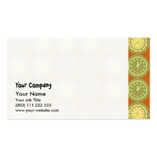 Round clocks pattern pack of standard business cards