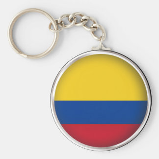 Round Colombia Key Ring