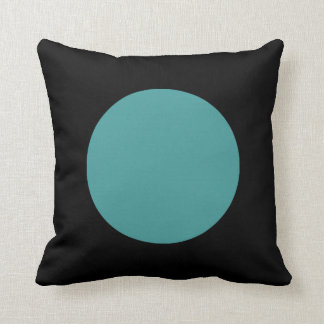 Round Colors - Ocean Green and Black Cushion