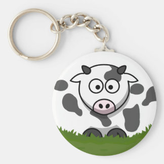 Round Cow Key Ring