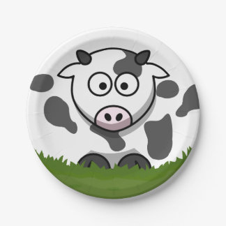Round Cow Paper Plate