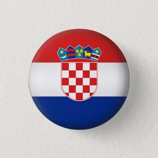 Round Croatia 3 Cm Round Badge