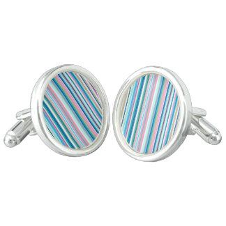 Round Cufflinks - Silver Plated