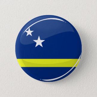 Round Curacao flag 6 Cm Round Badge