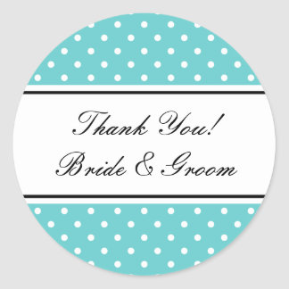 Round cute thank you stickers for wedding favors