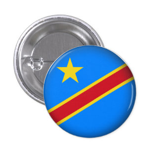 Round Democratic Republic of Congo 3 Cm Round Badge