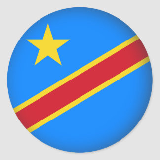 Round Democratic Republic of Congo Classic Round Sticker