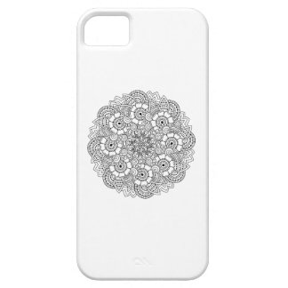 Round Design Doodle Barely There iPhone 5 Case