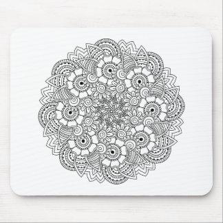 Round Design Doodle Mouse Mat