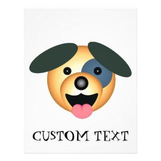 Round dog happy design full color flyer