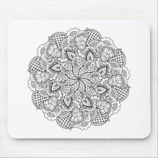 Round Doodle Mouse Mat