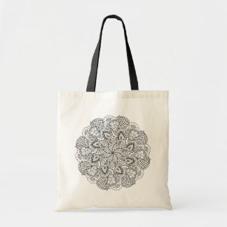 Round Doodle Tote Bag