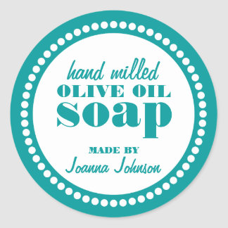 Round Dot Frame Soap Label Template Round Sticker