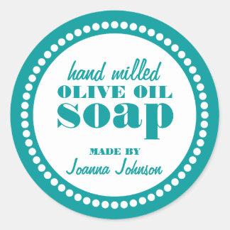 Round Dot Frame Soap Label Template Round Sticker