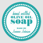 Round Dot Frame Soap Label Template Round Stickers