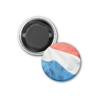 Round Dutch Flag Fridge Magnet