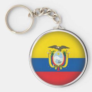 Round Ecuador Key Ring