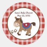 Round 'Em Up Birthday Baby Shower Favour Sticker