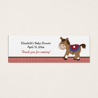 Round 'Em Up Western Horse Custom Favor Tag Mini Business Card
