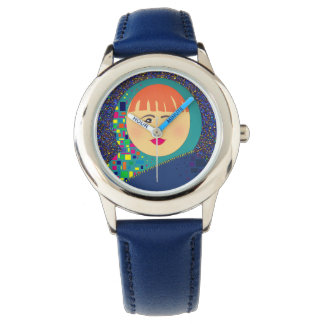 Round Face Colorful Cool Portrait Hipster Fashion Watch