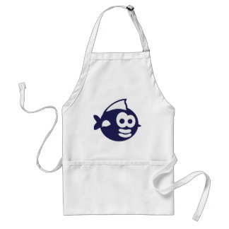 Round fish fish standard apron