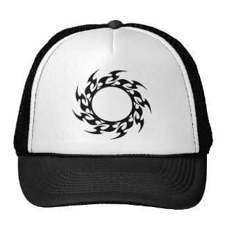 Round flames mesh hats