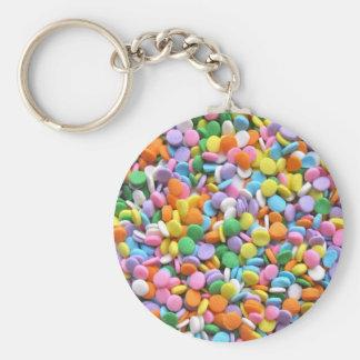 Round Flat Sprinkles Keychains