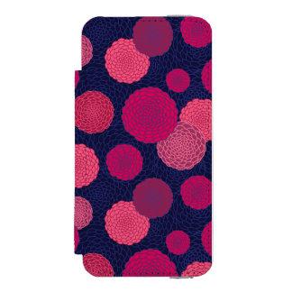 Round flowers pattern incipio watson™ iPhone 5 wallet case