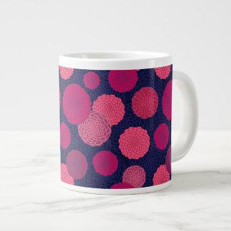 Round flowers pattern large coffee mug