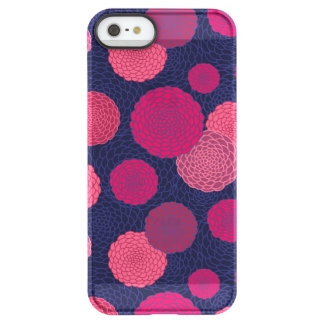 Round flowers pattern permafrost® iPhone SE/5/5s case