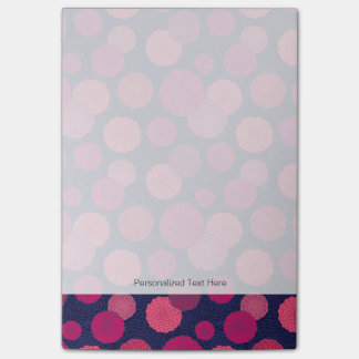 Round flowers pattern post-it® notes