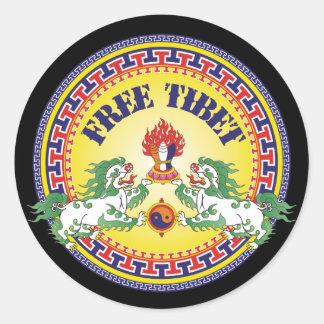 Round Free Tibet Classic Round Sticker
