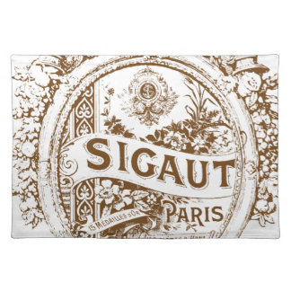 Round French Perfume Label Placemats