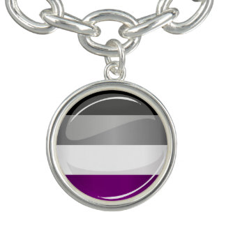 Round Glossy Asexual Pride Flag