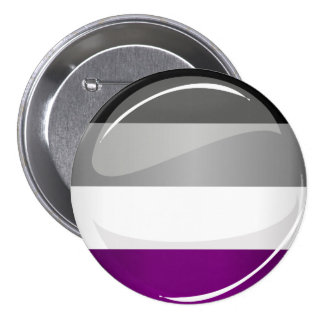Round Glossy Asexual Pride Flag 7.5 Cm Round Badge