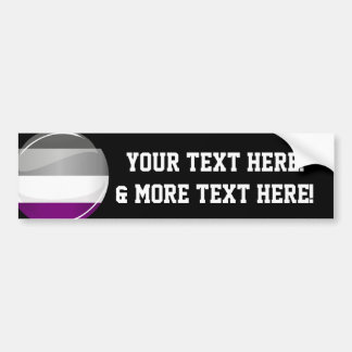 Round Glossy Asexual Pride Flag Bumper Sticker