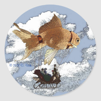 Round Goldfish Sticker