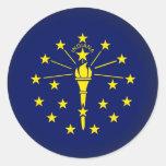 Round Indiana Round Stickers