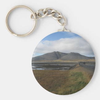 Round Key Ring With Distant Hills Picture