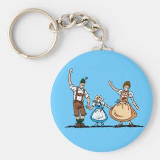 Round Keychain Oktoberfest Bavarian Family